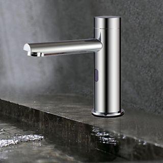 Brass Contemporary Sensor Bathroom Sink Faucet (Chrome Finish) – FaucetSuperDeal.com