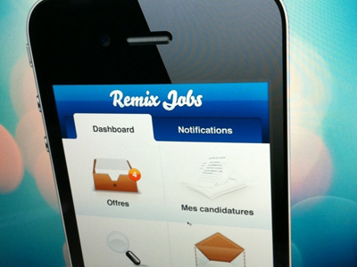 RemixJobs | iPhone app UI by Julien Renvoye