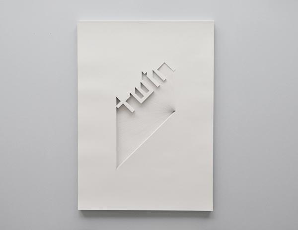 Typography Paper Art by Bianca Chang