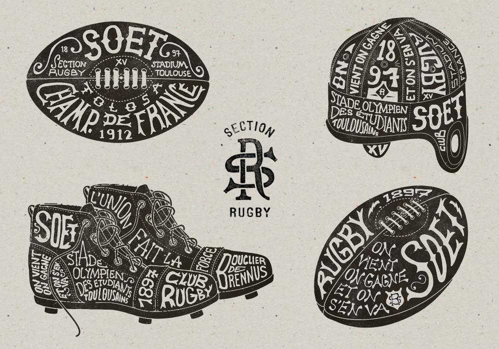 Toulouse SOET Section Rugby on the Behance Network