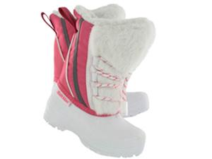SoftMoc Footwear | Girls CARLY white/pink pull on winter boots CARLY WHT