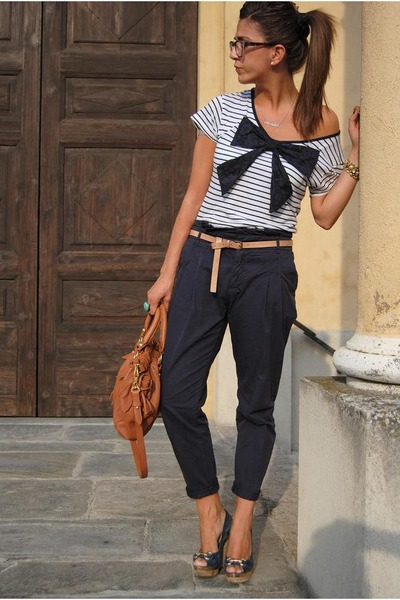 Blue Roberto Della Croce Shoes, Blue Zara Pants, White Asos Shirts, Brown Mius |