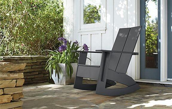 outdoor rocker - modern - outdoor chairs - minneapolis