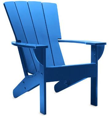 Fan Back Adirondack Chair, Blue Grotto - modern - outdoor chairs - - by Archie's Island
