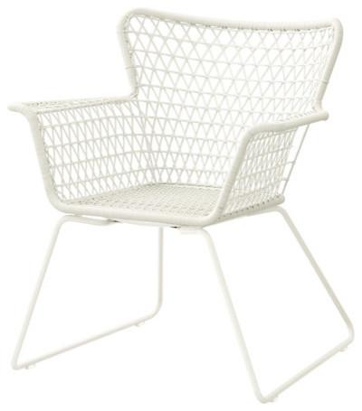 HÖGSTEN Armchair, White - contemporary - outdoor chairs - - by IKEA