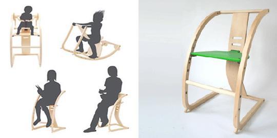 Japan Trend Shop   New Bambini convertible chair from Toshimitsu Sasaki