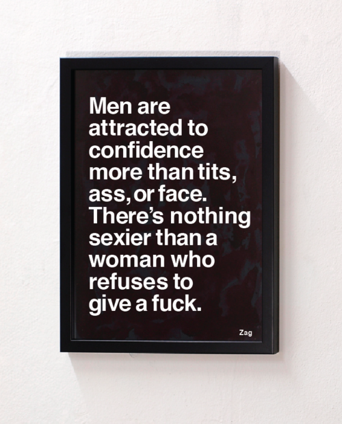 Men are attracted to confidence more than tits or face. There's nothing sexier than a women who refuses to care.