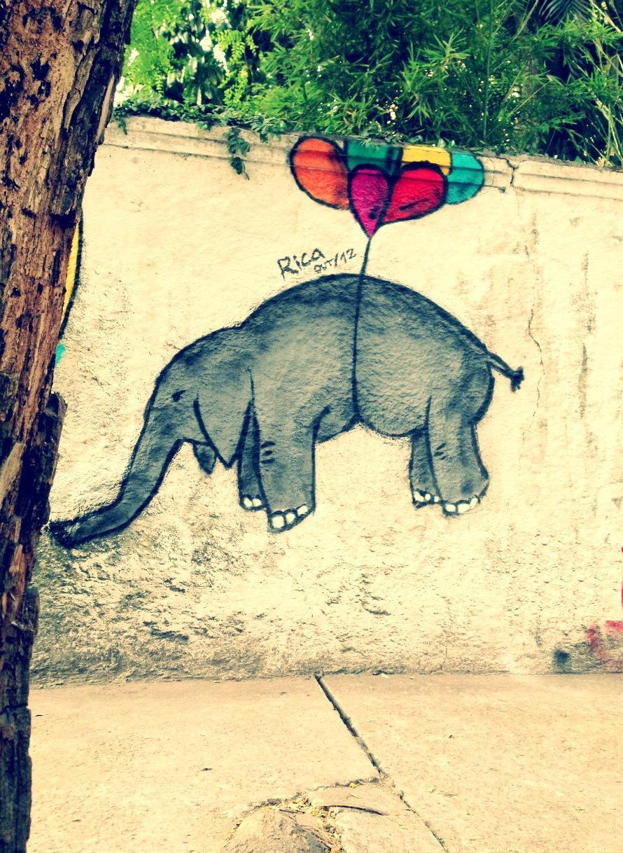 STREET ART UTOPIA » We declare the world as our canvasFlying elephant - By Rica in São Paulo, Brazil » STREET ART UTOPIA