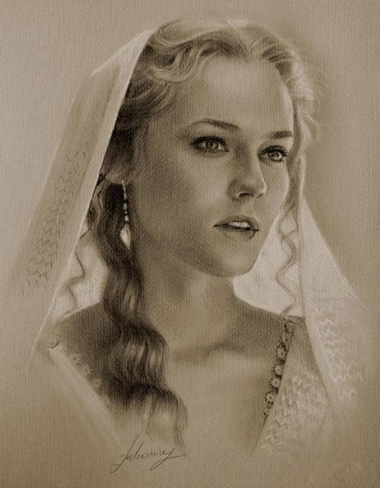 Pencil sketches - portraits of celebrities - pencil sketches