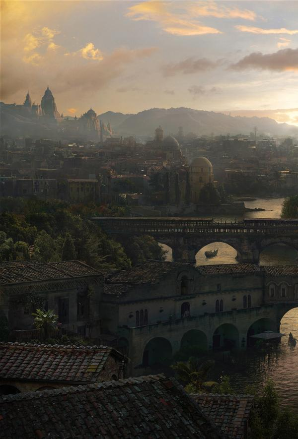 Ancient city matte painting on Digital Art Served