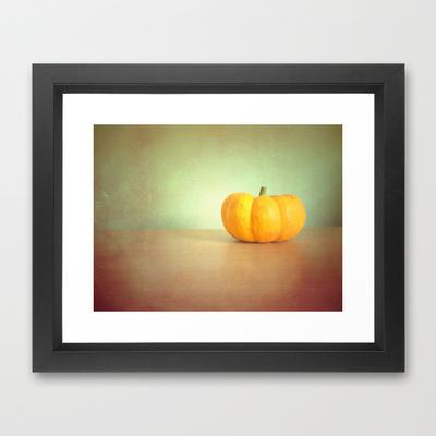 Pumpkin Framed Art Print by Ally Coxon | Society6