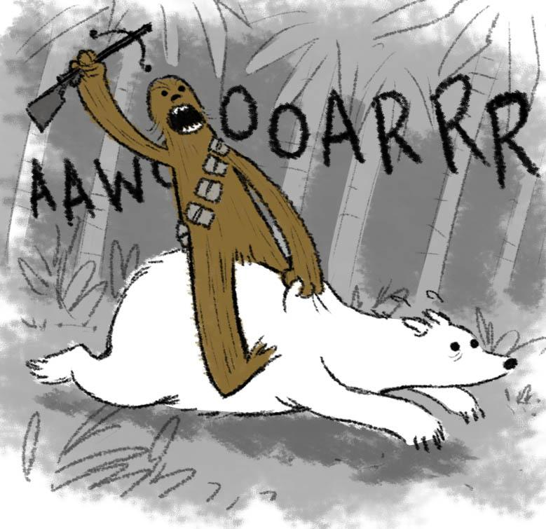 All sizes | Star Wars LOST team ups!- Chewie and the PolarBear | Flickr - Photo Sharing!