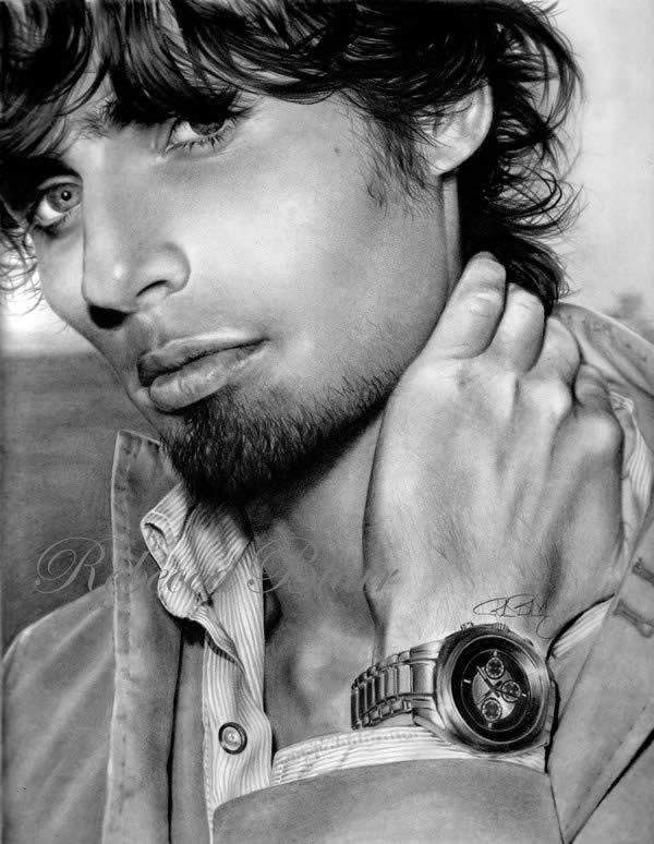 Male portrait drawings | showme design