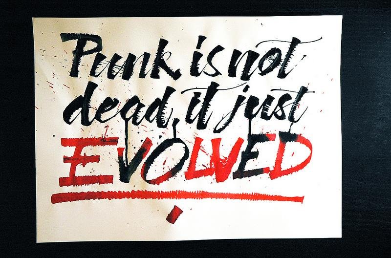 Punk is not dead, it just evolved.