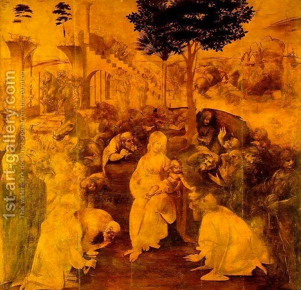 Adoration of the Magi Leonardo Da Vinci | Oil Painting Reproduction | 1st-Art-Gallery.com