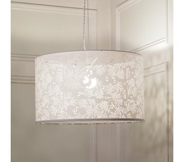 Kids' Lighting: White Lace Pendant Lamp in All Room Decor