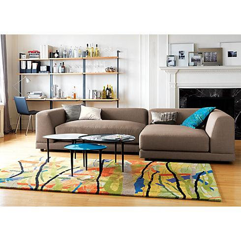 uno caper left arm sectional pieces in sofas | CB2