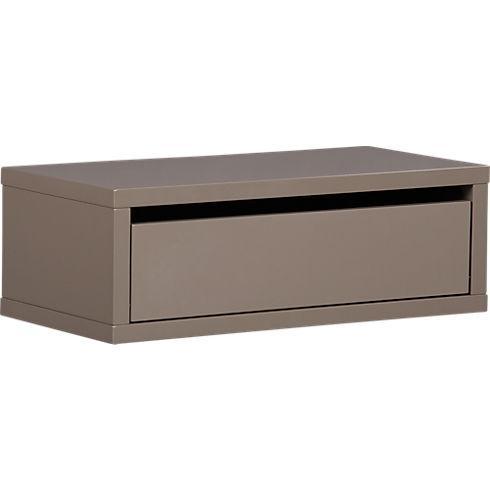 slice grey wall mounted storage shelf in storage | CB2