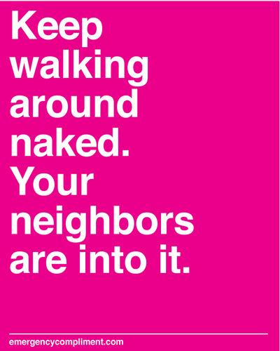 Walk Around Naked Art Print by Emergency Compliment | Society6