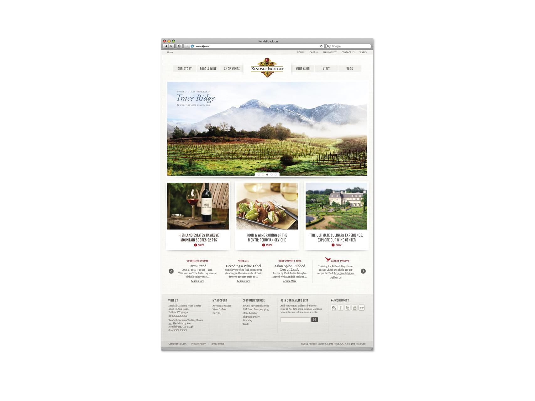 Voicebox Creative Project: Kendall-Jackson Website