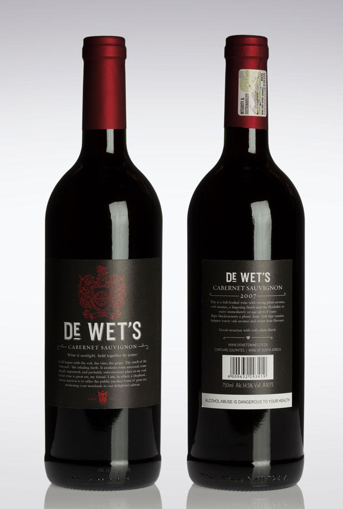 De Wet's Wine - The Dieline -