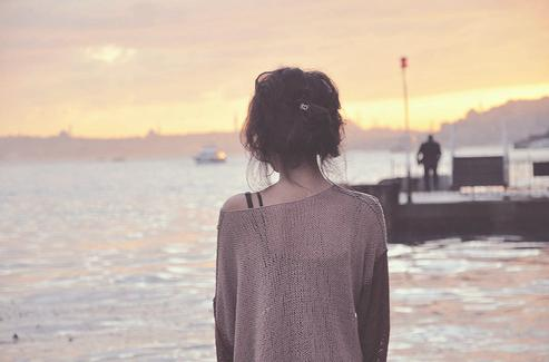 Aftermoon Afternoon Alone Brunette Cold Fashion Girl Hair Lonely Ocean Photography Sea Sky Sunset Water - PicShip