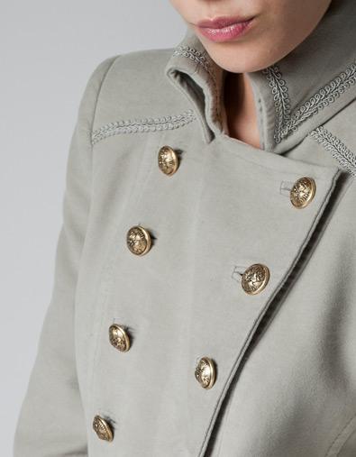 VELVETEEN MILITARY COAT - Jackets - TRF - ZARA Serbia