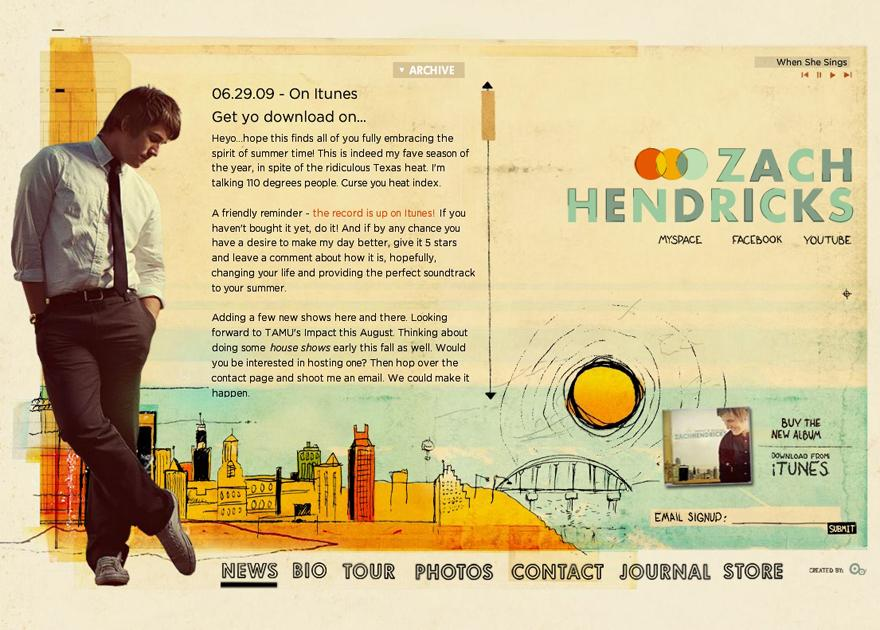 Zach Hendricks - Flash Websites - Creattica
