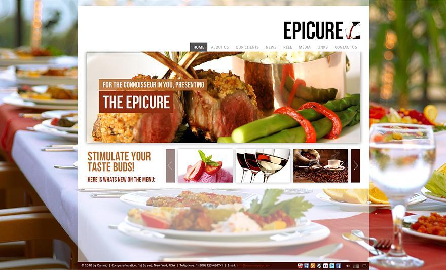 Epicure XML Website Template with Deep Linking - Flash Websites - Creattica