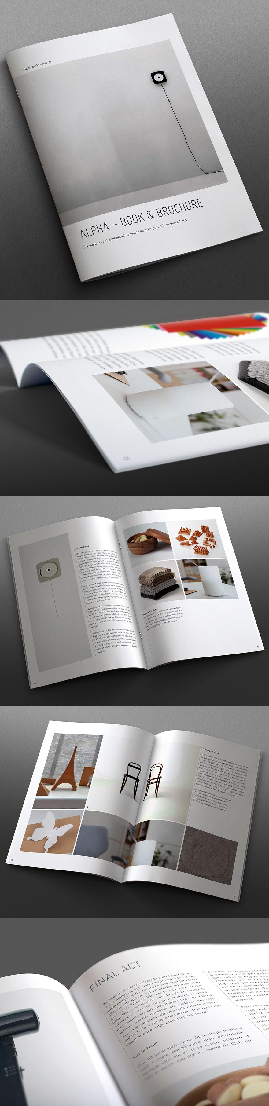 Alpha Series - Book & Brochure Template - Portrait - Brochures - Creattica