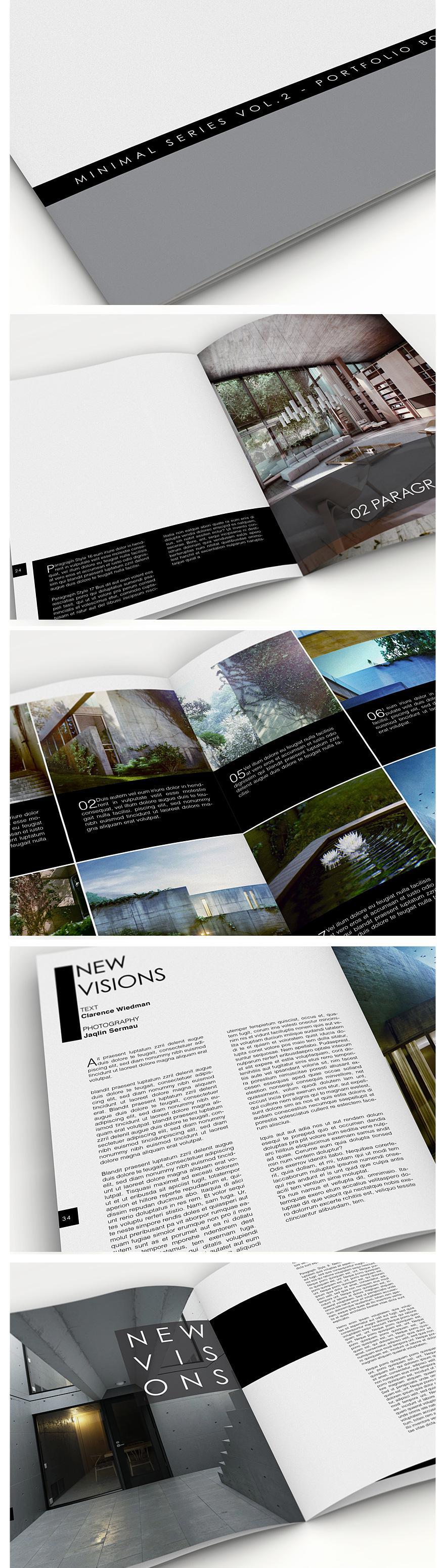 Minimal Series - Portfolio Book Vol.2 - Brochures - Creattica