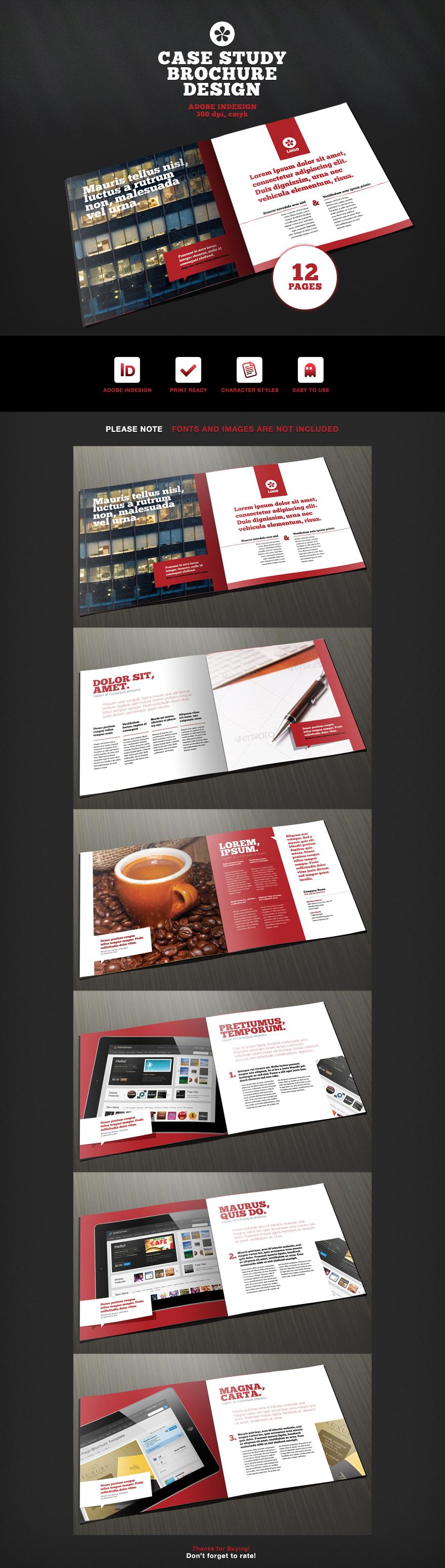 12 Page Case Study Brochure Design - Brochures - Creattica