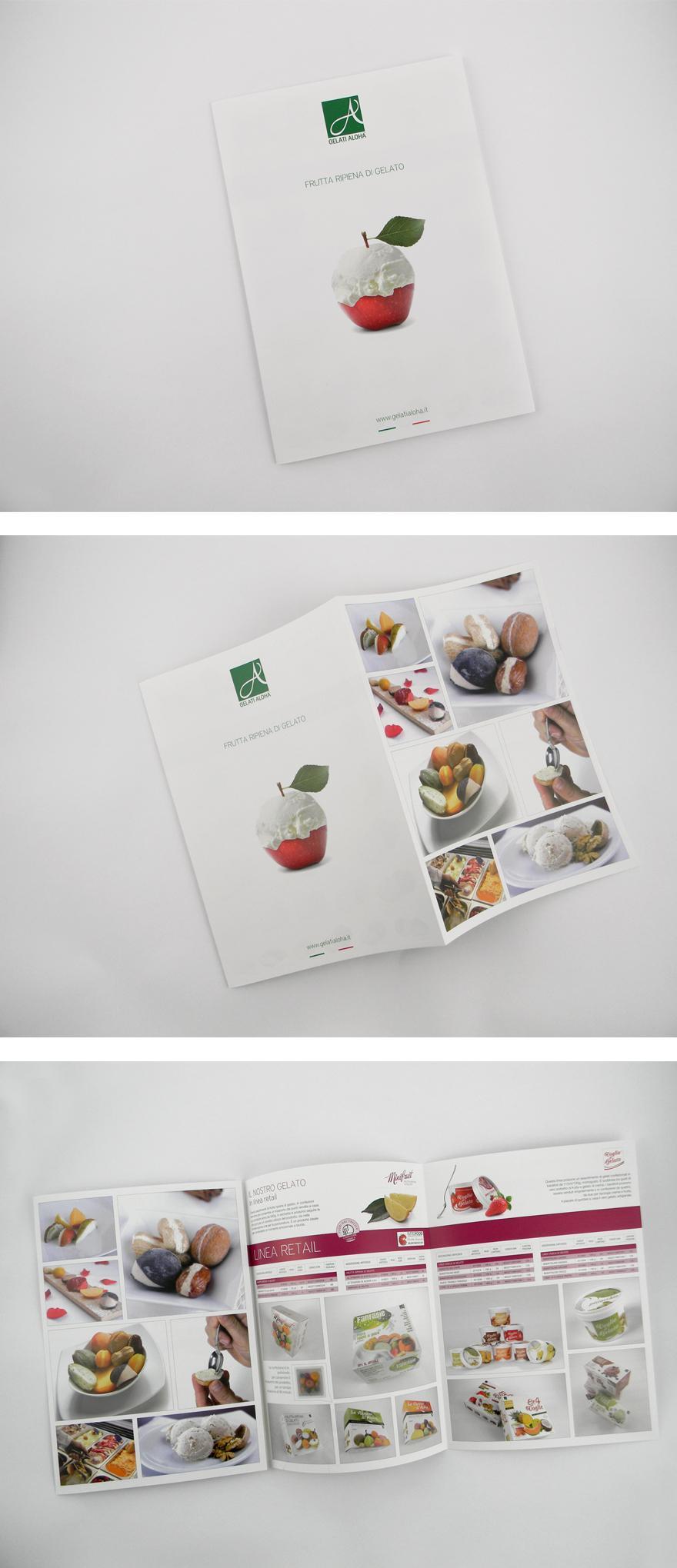 Gelati Aloha - Brochures - Creattica
