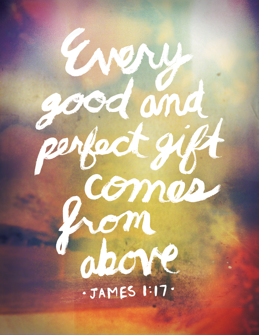 James 1:17 - Typography - Creattica