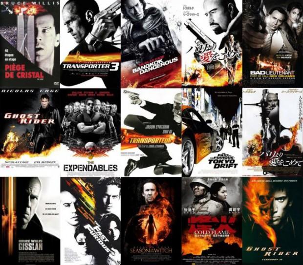 Одинаковые киноплакаты: заготовки по жанрам — Дизайн изнутри — Графический дизайн в Украине