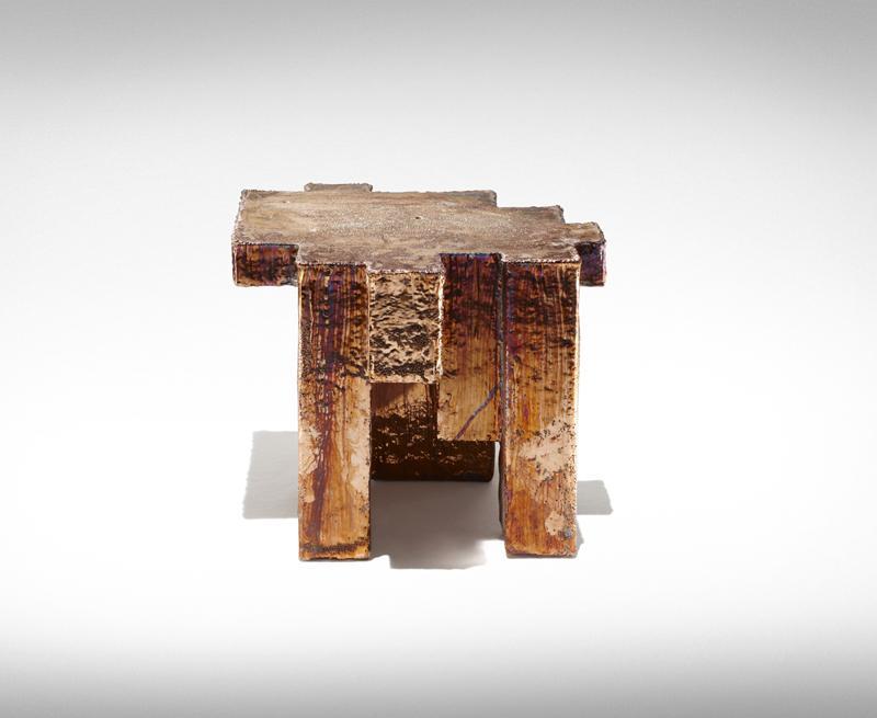 Studio Nucleo, copper fossil table, Nucleo_Piergiorgio Robino+Stefania Fersini | Studio Nucleo