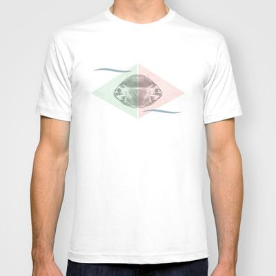 Siamese fishes T-shirt by pascal+ | Society6