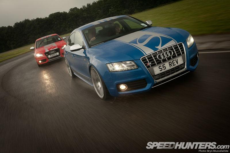 A PAIR OF HOT AUDIS GET WET - Speedhunters
