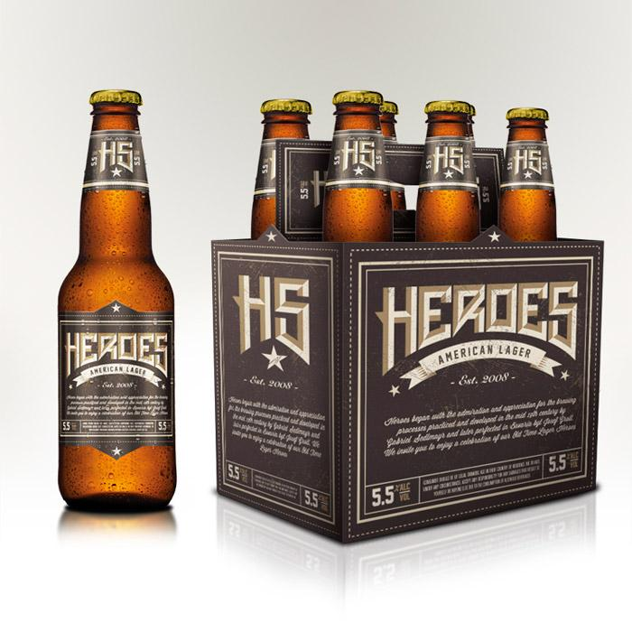 Heroes American Lager - The Dieline -