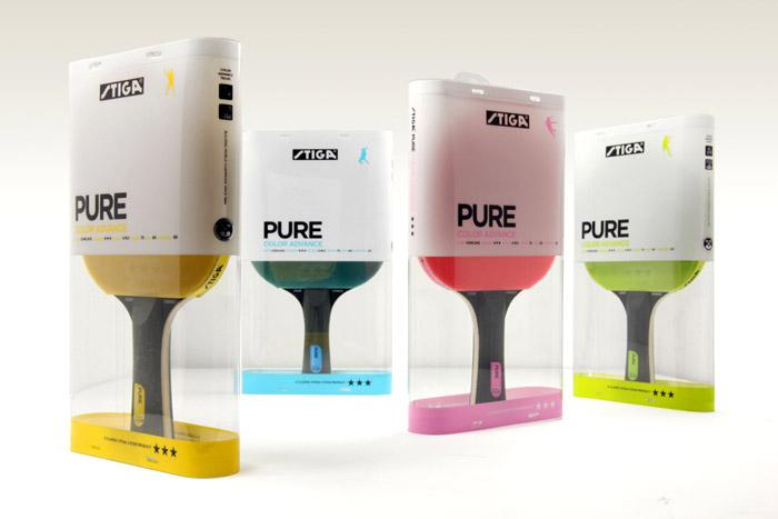 STIGA Pure - Table Tennis Paddles - The Dieline -