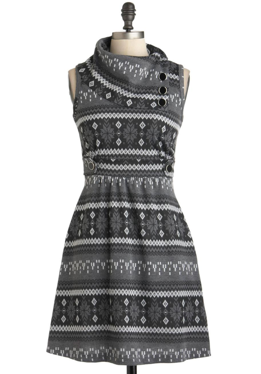 Coach Tour Dress in Winter | Mod Retro Vintage Dresses | ModCloth.com