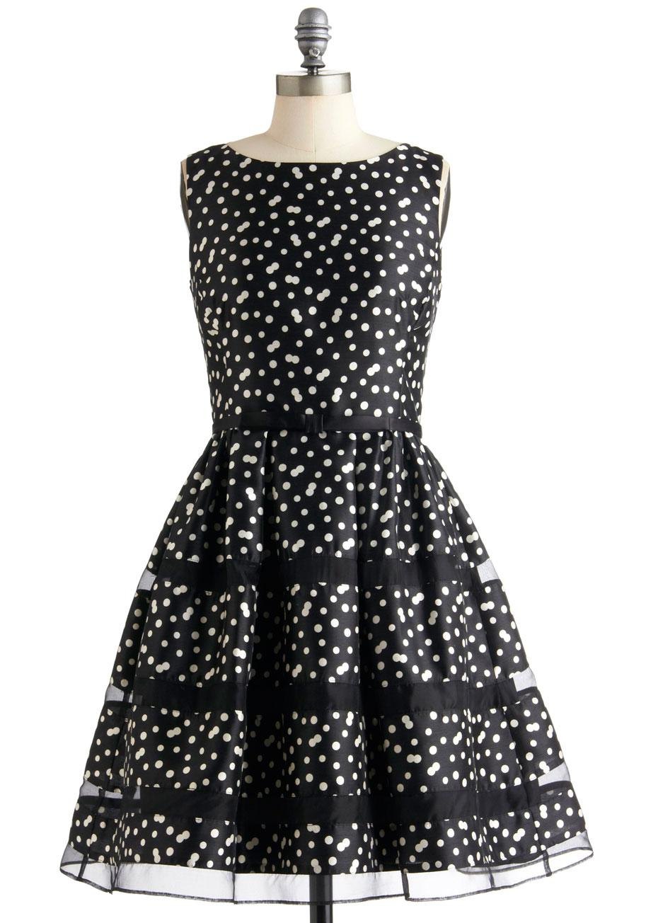 Ros Bubbly Dress in Noir | Mod Retro Vintage Dresses | ModCloth.com
