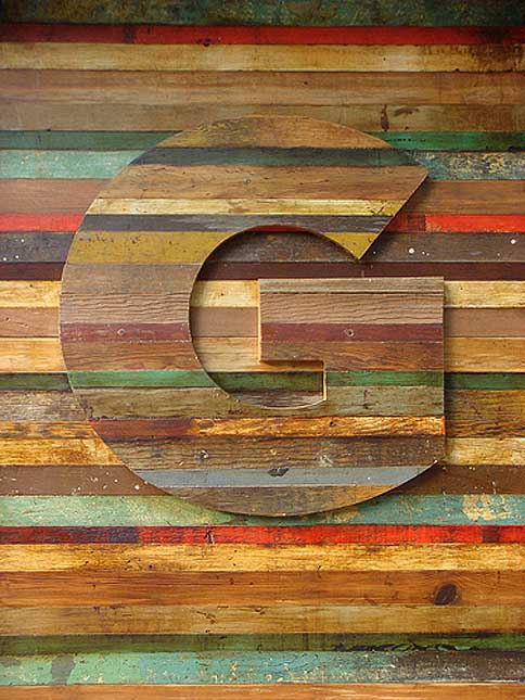 Typeverything.com Timbered lettering on the... - Typeverything