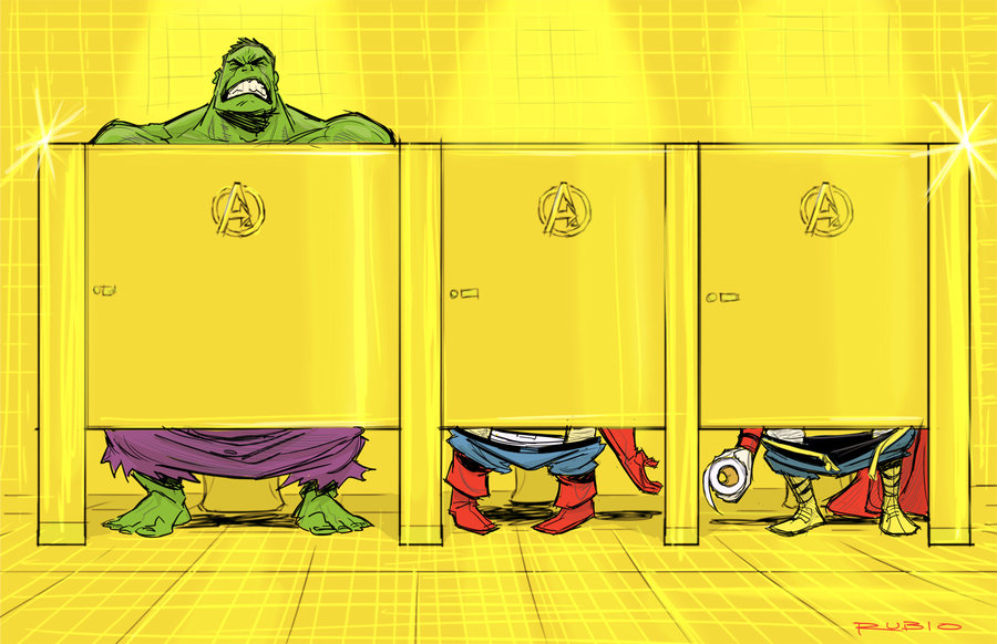 Avenger's Mansion bathroom by *barrypresh
