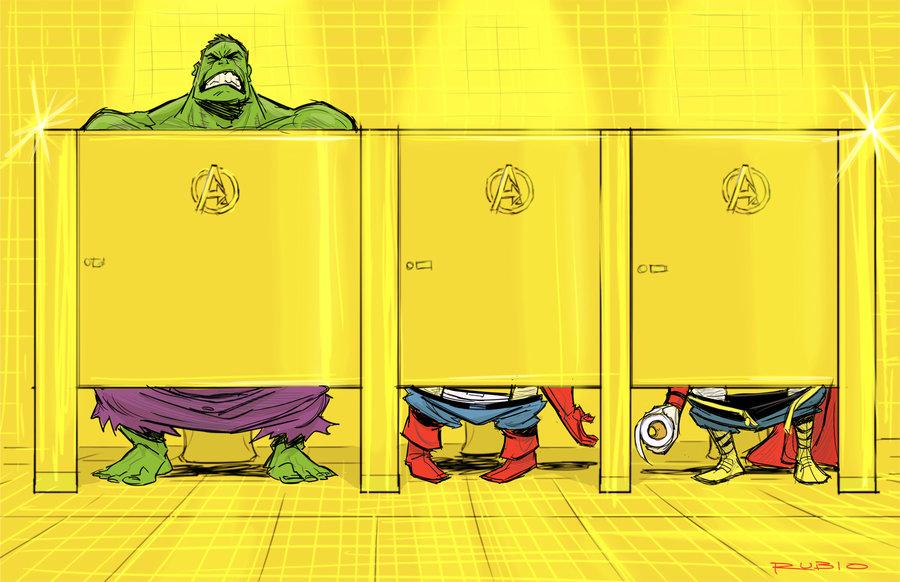 Avenger's Mansion bathroom by *barrypresh