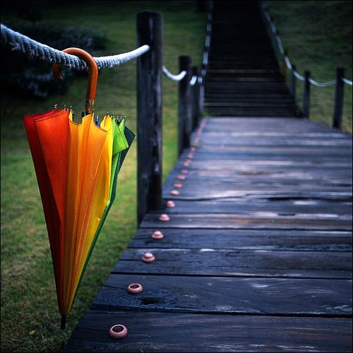 Rainbow umbrella part II by ~LadyAgnes