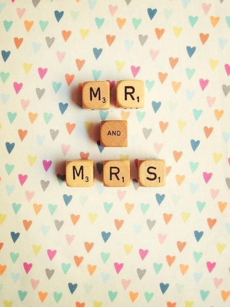 Wedding Prop Mr & Mrs Photo Hearts Backdrop Décor by happeemonkee