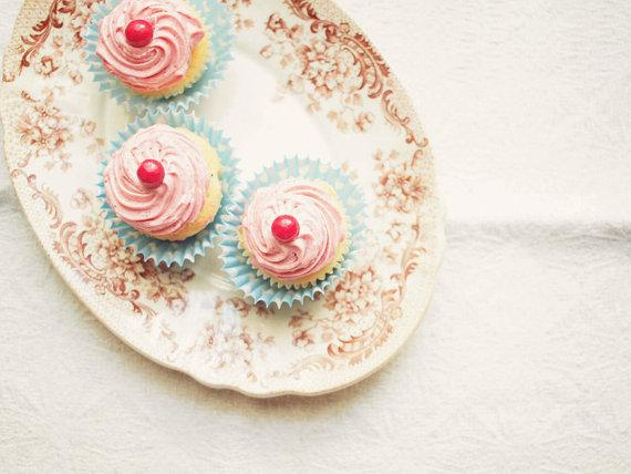 Pink Cupcakes Photo Fine Art Photography Kitchen by happeemonkee
