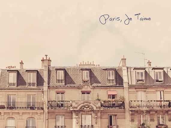 Paris Je t'aime Fine Art Photography French by happeemonkee