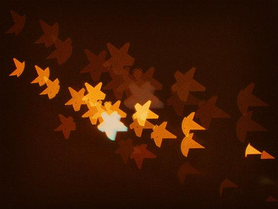 Star Spangled Bokeh Golden Stars Night Light by happeemonkee